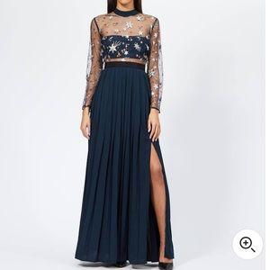 NWT Self-Portrait Maxi Blue Star Dress Size 2